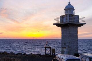 海に沈む夕陽の写真・画像素材[1451311]