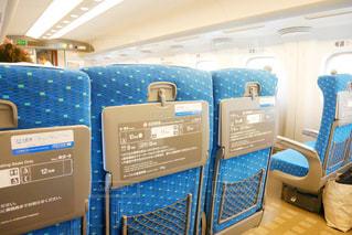 新幹線内の座席の写真・画像素材[1542799]