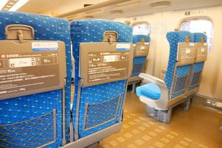 東海道線新幹線内の座席の写真・画像素材[1542801]