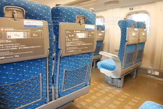 東海道線新幹線内の座席の写真・画像素材[1542802]