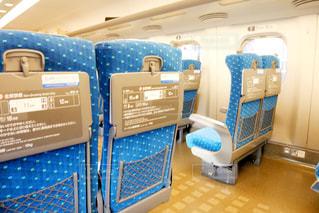 東海道線新幹線内の座席の写真・画像素材[1542803]