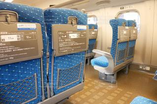 東海道線新幹線内の座席の写真・画像素材[1542804]