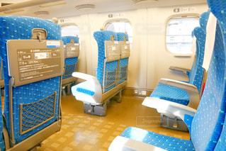 東海道線新幹線内の座席の写真・画像素材[1542806]