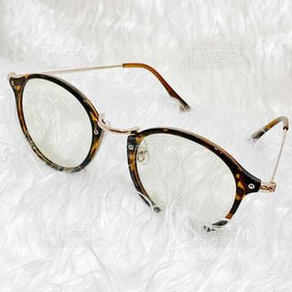 ブルーライトや紫外線カットのサングラスの眼鏡の写真・画像素材[1755138]