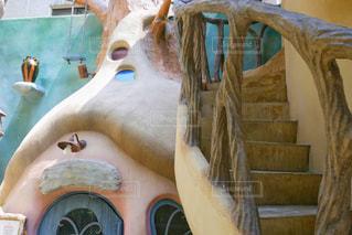 建物の入り口や階段の写真・画像素材[2117269]