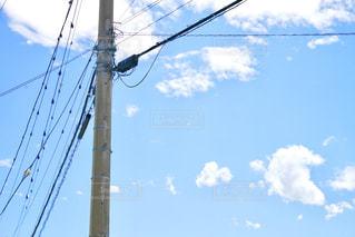 電柱のクローズアップの写真・画像素材[2266113]
