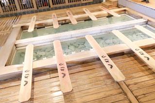 草津の湯畑体験の写真・画像素材[2266839]
