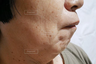 顎のクローズアップの写真・画像素材[2390422]