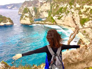 撮影地→バリ、ヌサペニダ島Pantai Atuh(アトゥ・ビーチ)の写真・画像素材[1247875]