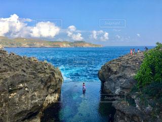 撮影地→バリ、ヌサペニダ島のAngel Billabong(エンジェル・ビラボン)の写真・画像素材[1248050]