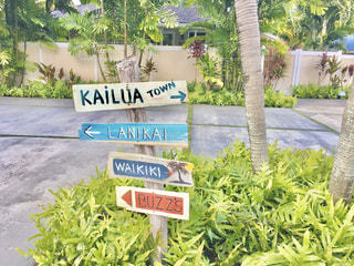 ハワイの標識の写真・画像素材[2952671]