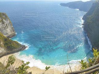 上から撮った海岸の写真・画像素材[2952672]