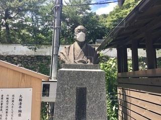 小倉城にある彫像の写真・画像素材[3372172]