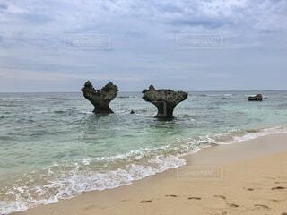 ハート岩の写真・画像素材[4637057]