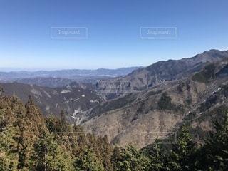 背景の大きな山のビュー - No.1031277