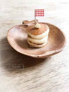 パンケーキと旗の写真・画像素材[372749]