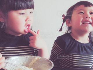 子供のスイーツ作りの写真・画像素材[435209]