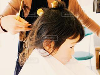 子供のヘアセットの写真・画像素材[464670]