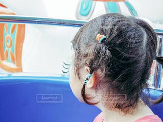子供と遊園地の写真・画像素材[645633]