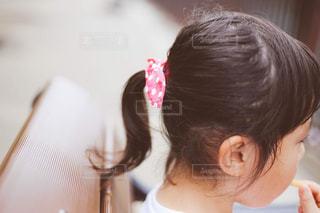 子どものポニーテールの写真・画像素材[1289267]