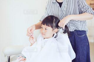 子供のヘアセットの写真・画像素材[1313198]