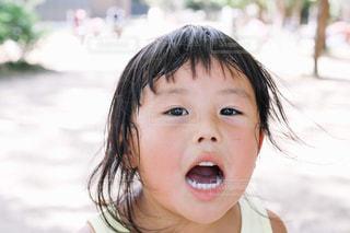 子供のアップの写真・画像素材[1396252]