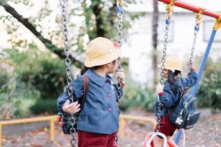 公園で遊ぶ園児の写真・画像素材[1631983]