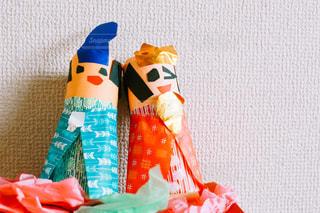 子供が作った雛人形の写真・画像素材[1822544]