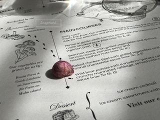 色鉛筆でピンクに塗られたカタツムリの殻の写真・画像素材[1510514]