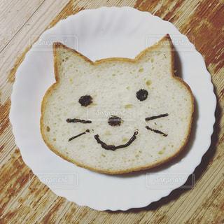 猫型の食パンの写真・画像素材[1620329]