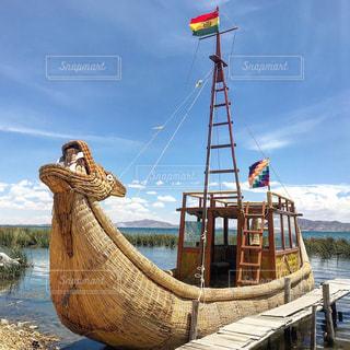 チチカカ湖の写真・画像素材[1620335]