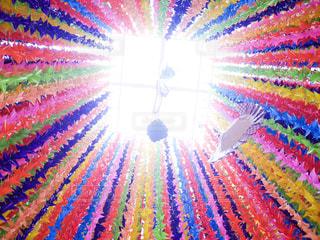 空に花火の写真・画像素材[1396678]