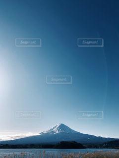快晴の富士山の写真・画像素材[2850447]