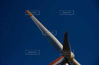 風力発電プロペラのアップの写真・画像素材[1700997]