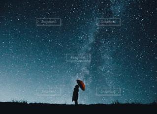 星の雨の写真・画像素材[2805423]