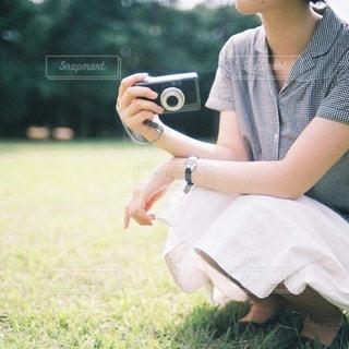 カメラ女子のの写真・画像素材[3892]