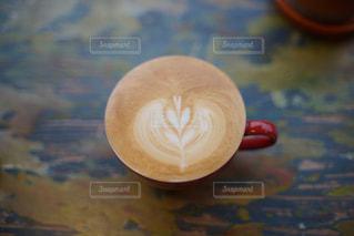 お気に入りのカフェラテの写真・画像素材[259942]