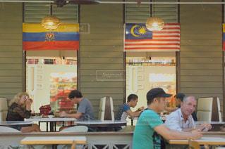 マレーシアにあるフードコートの写真・画像素材[681354]