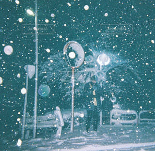 大雪の日の写真・画像素材[1001361]