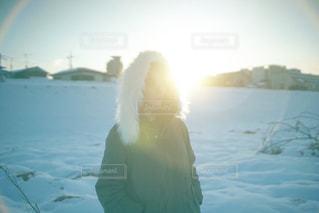 大雪の次の日の写真・画像素材[1017688]