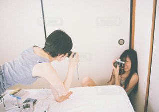 カメラ女子たちのの写真・画像素材[1400283]