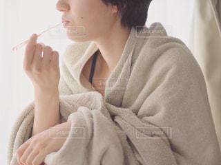 歯を磨く女性のの写真・画像素材[1400284]