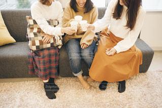 おうちで女子会の写真・画像素材[1536946]