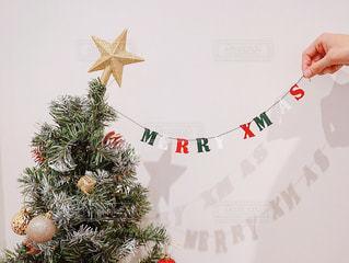 「メリークリスマス」とクリスマスツリーの写真・画像素材[1662601]