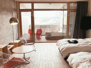 客室露天風呂つきのお部屋の写真・画像素材[1706562]