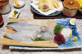 佐賀で食べたイカの活造りの写真・画像素材[1731013]