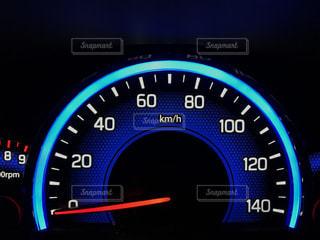 軽自動車のスピードメーターの写真・画像素材[973587]