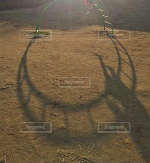 夕暮れの公園の写真・画像素材[397267]