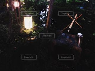 庭園のししおどしの写真・画像素材[716557]