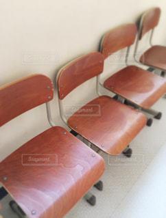 学校の椅子の写真・画像素材[1538059]